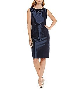 Preston & York Melina Shantung Sheath Dress Image