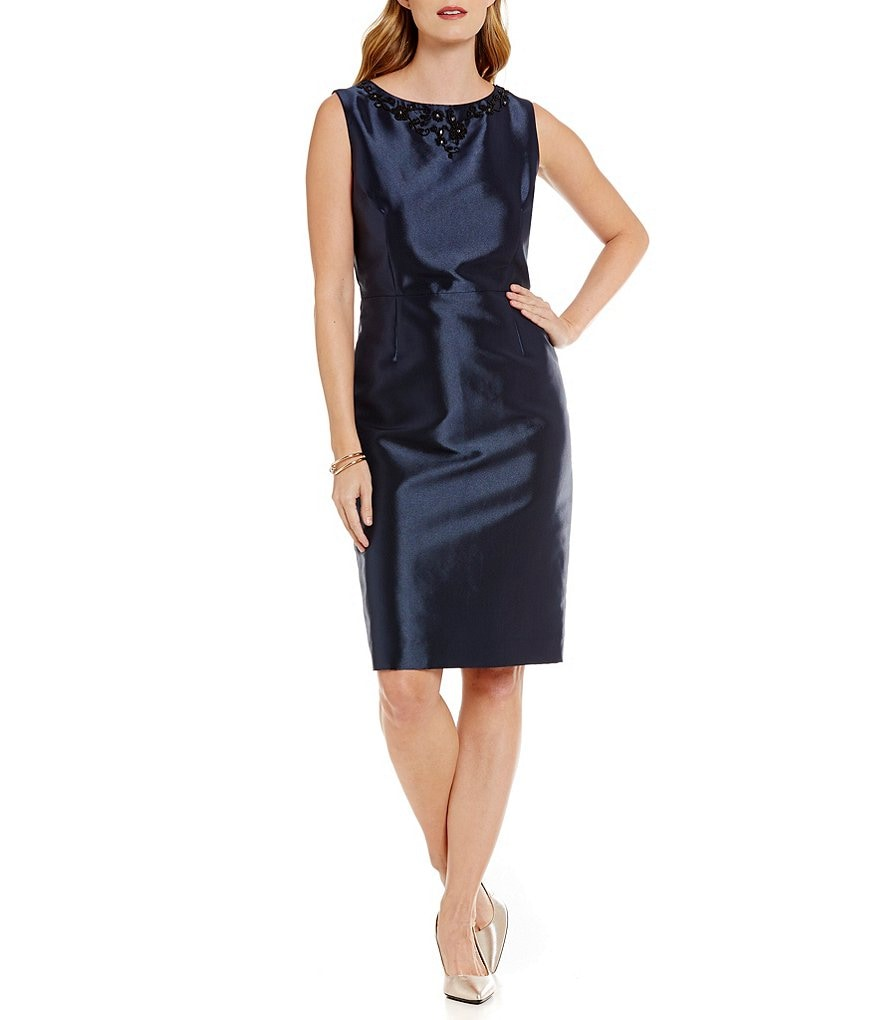 Preston & York Melina Shantung Sheath Dress