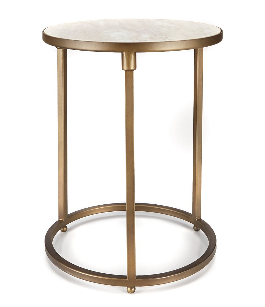 Southern Living Marble & Bronze Accent Table
