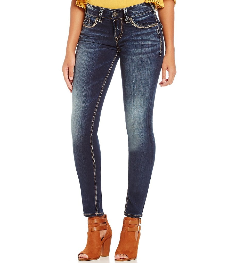 Silver Jeans Co. Suki Faded Mid Skinny Jeans