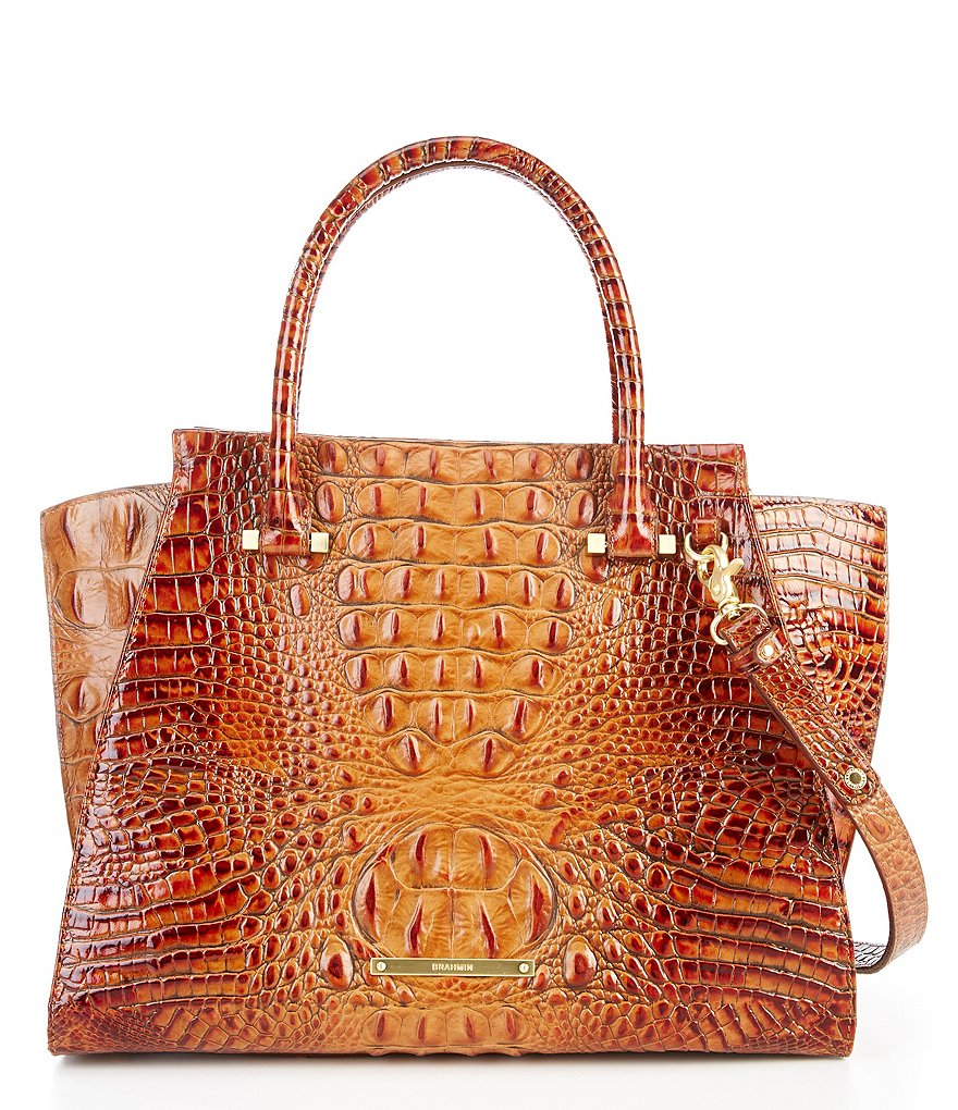 Brahmin Toasted Almond Collection Priscilla Satchel