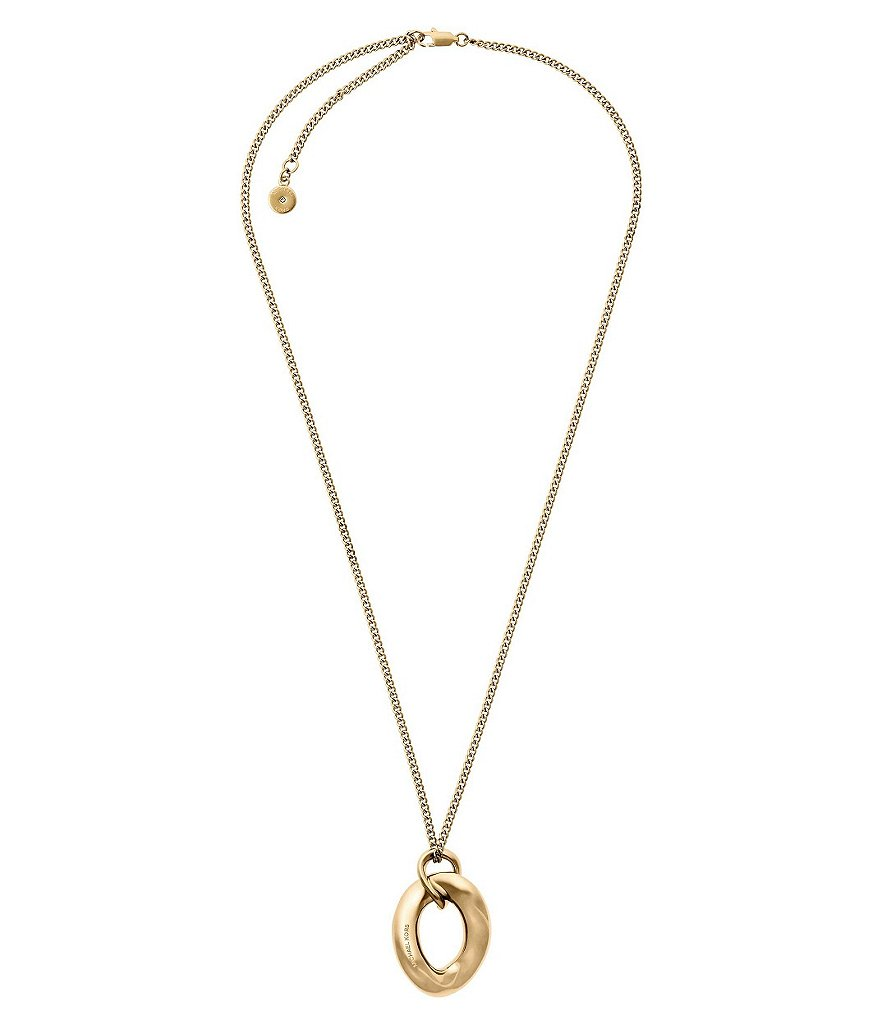 Michael Kors Curb Link Pendant Necklace