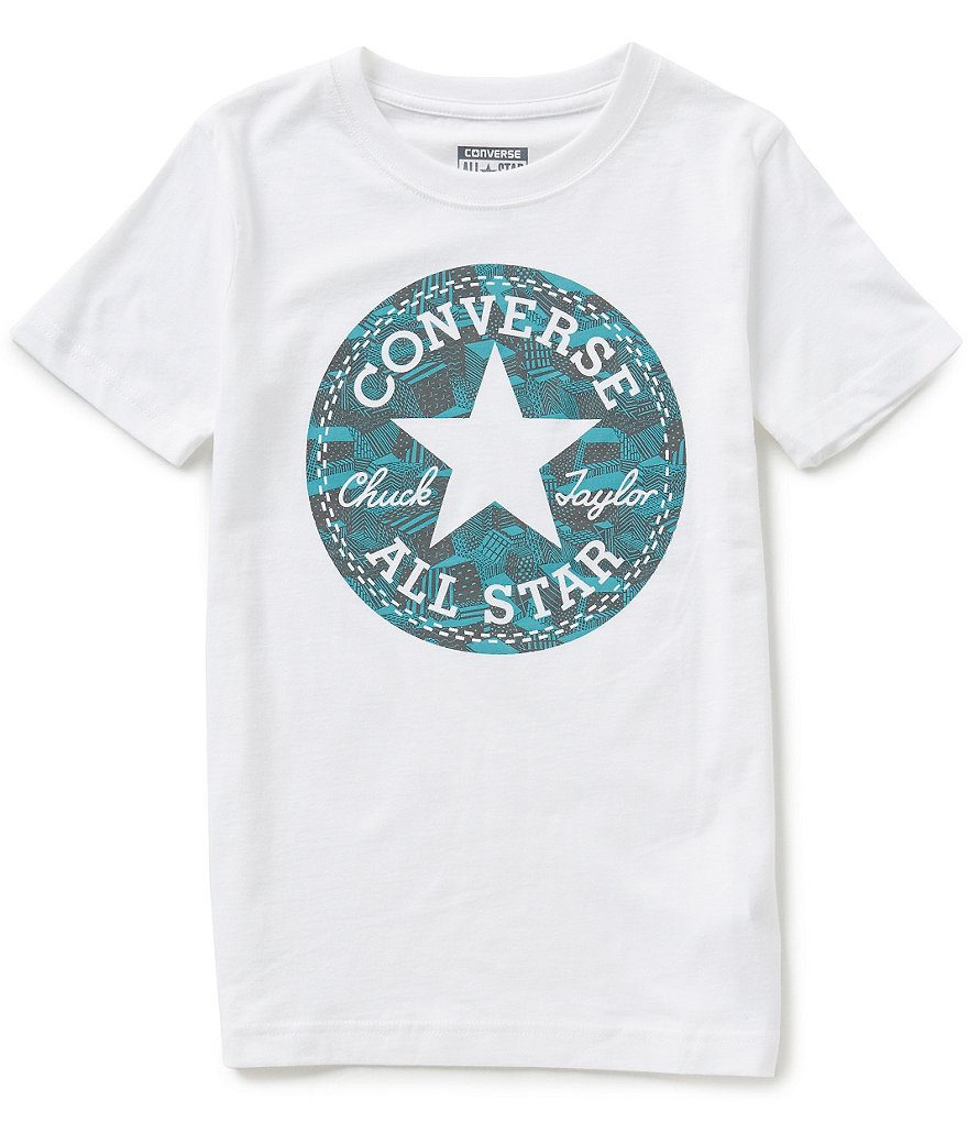 Converse Big Boys 8-20 Chuck Fill Short-Sleeve Graphic Tee