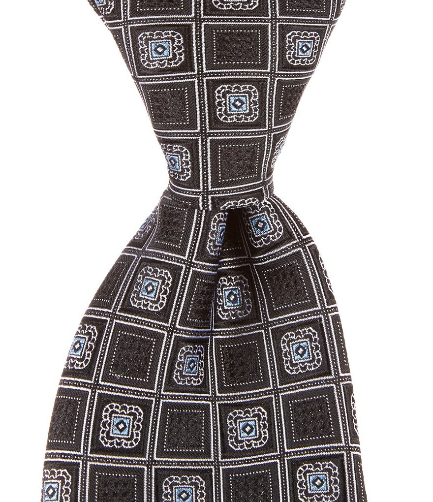 Cremieux Block Medallion Traditional Silk Tie