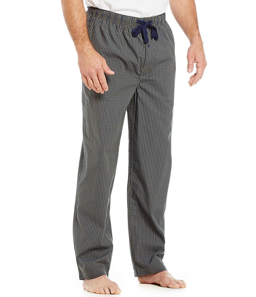 Cremieux Big & Tall Checked Woven Pajama Pants