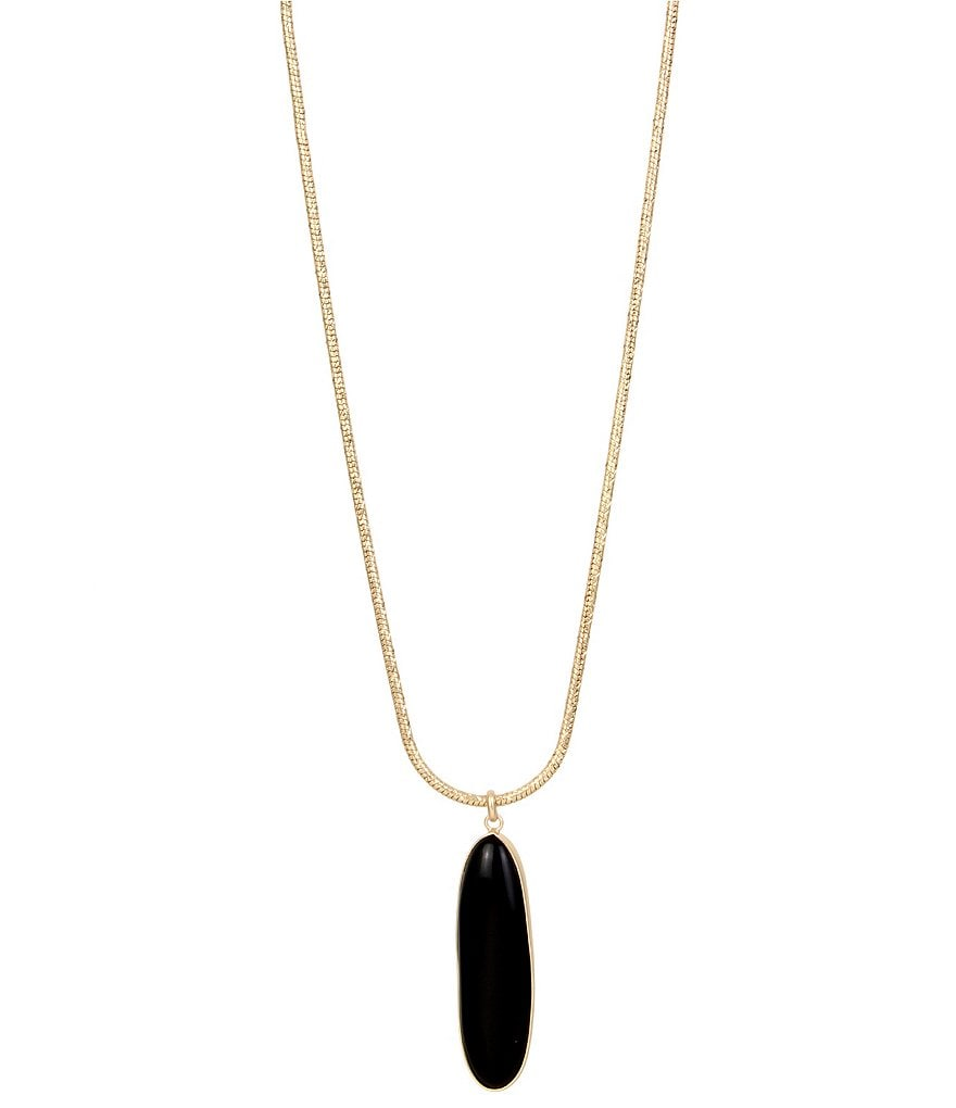 Kenneth Cole New York Onyx Pendant Necklace
