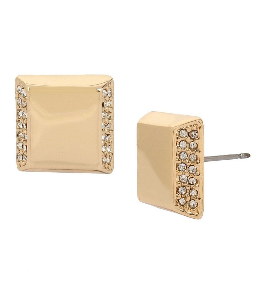 Kenneth Cole New York Pavé Square Stud Earrings