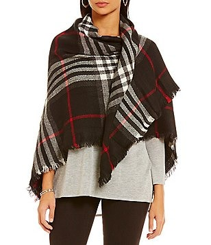 Fraas Plaid Square Blanket Wrap