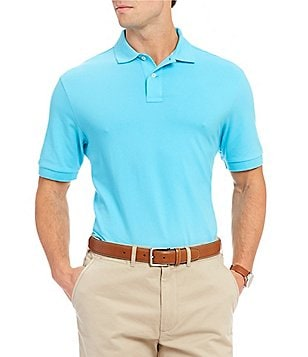 Cremieux Favorite Solid Pique Short-Sleeve Polo Shirt