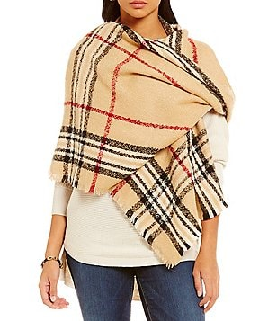 Fraas Plaid Rectangle Blanket Scarf