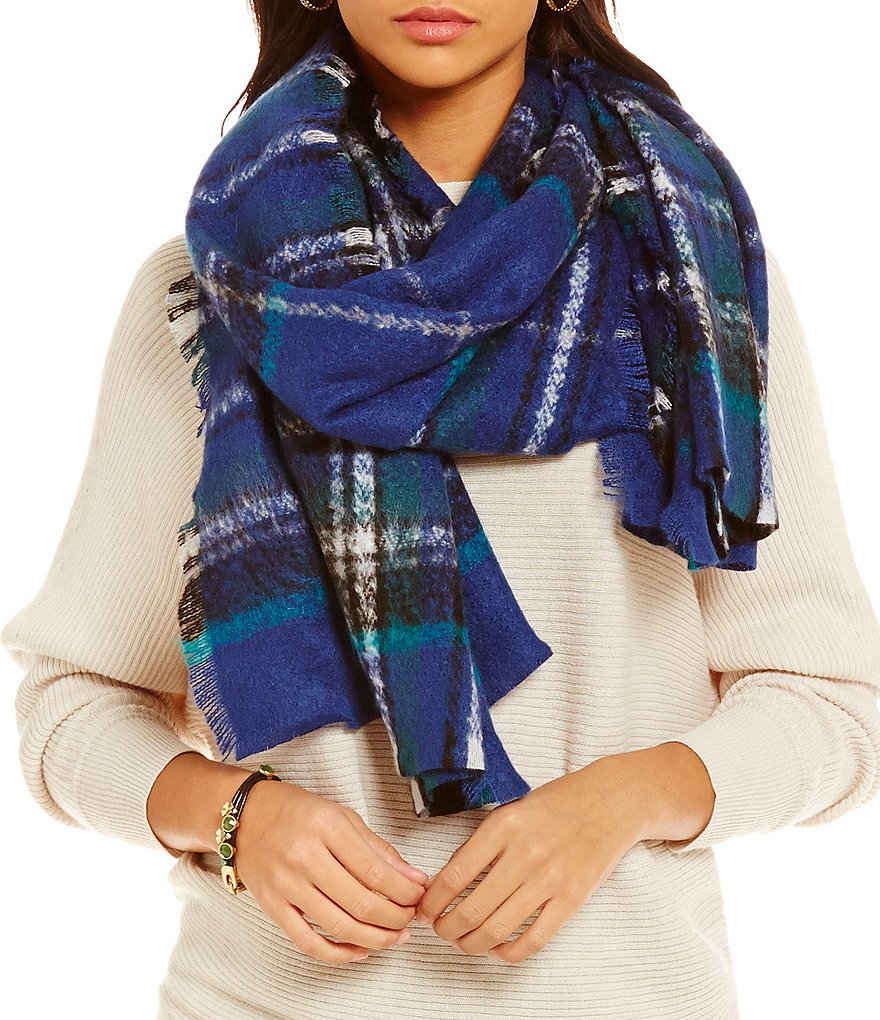 Fraas Plaid Bouclé Blanket Scarf
