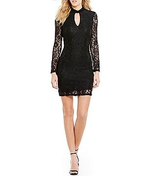 I.N. San Francisco Choker Neckline Lace Sheath Dress