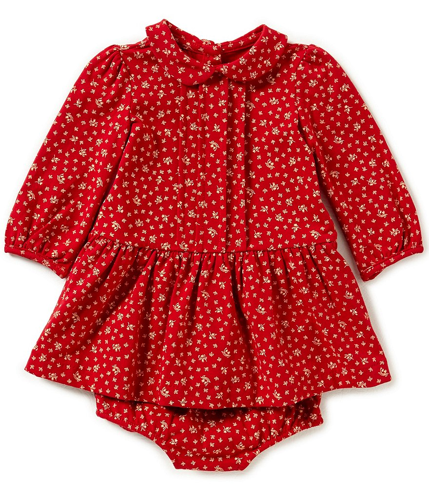 Ralph Lauren Childrenswear Baby Girls 3-24 Months Floral Pintucked Jersey Dress