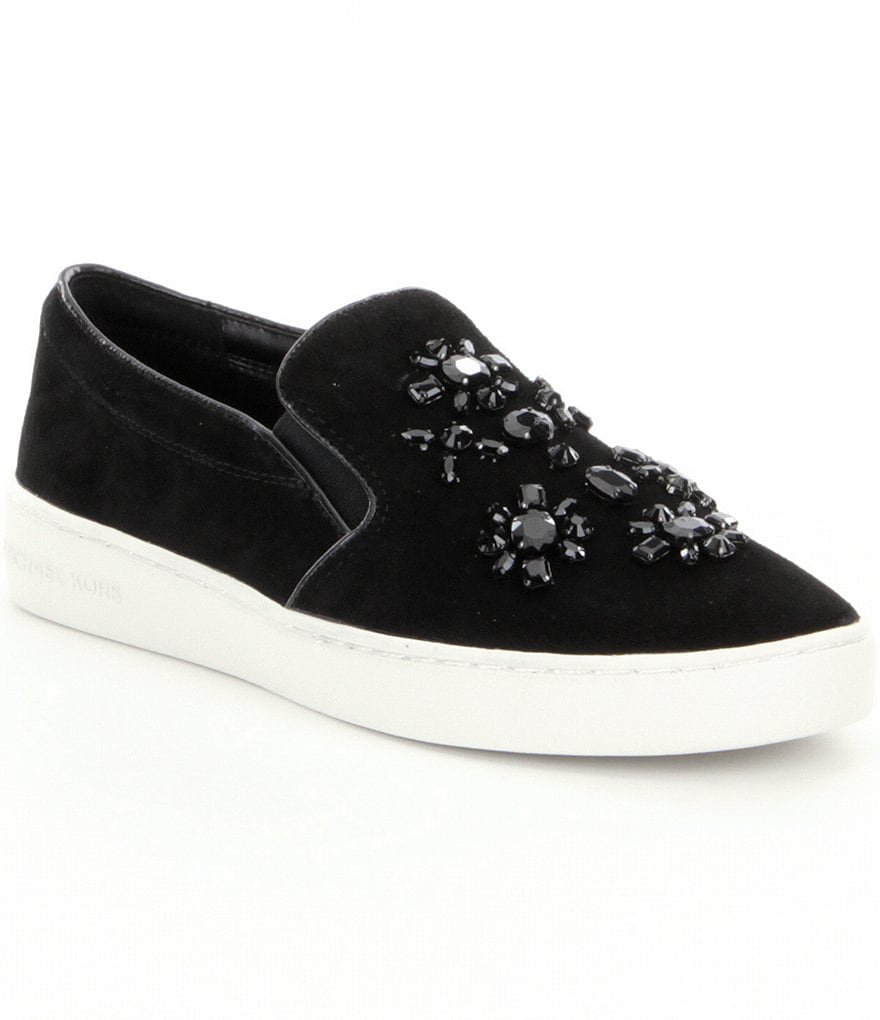 MICHAEL Michael Kors Keaton Suede Slip-On Sneakers