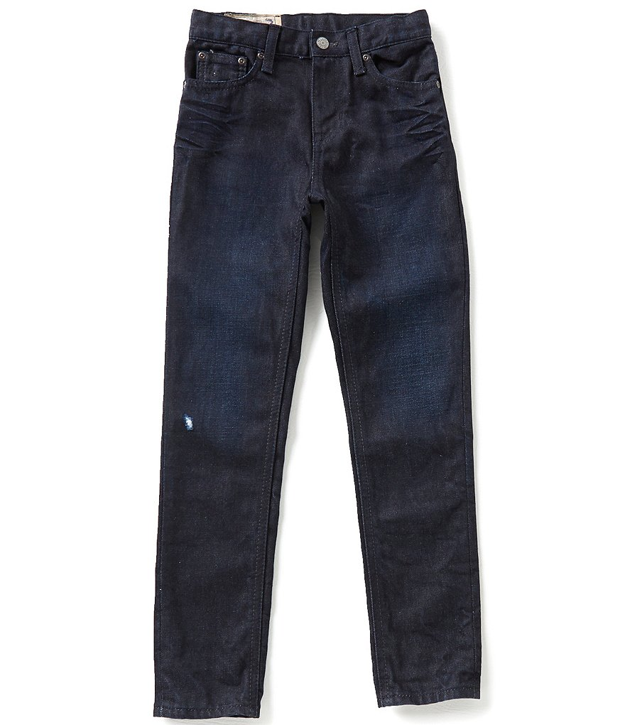 Ralph Lauren Childrenswear Little Boys 5-7 Slouchy Skinny-Fitting Roll-Up Cuff Denim Jeans