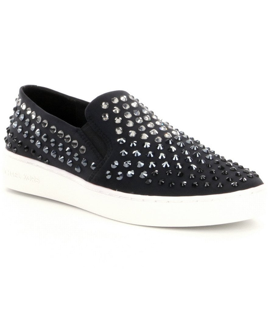 MICHAEL Michael Kors Keaton Stone Embellished Slip-On Sneakers