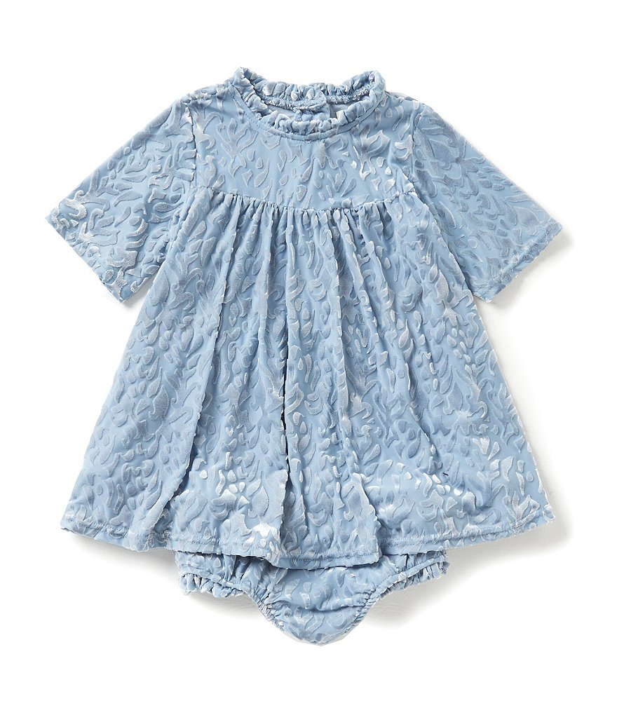 Jessica Simpson Baby Girls 12-24 Months Burnout Velvet Dress