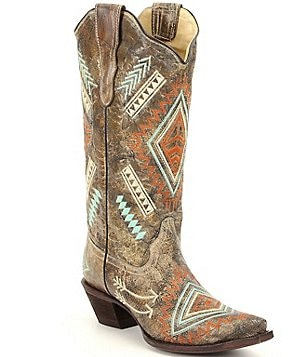 Corral Boots Multi Color Diamond Boots
