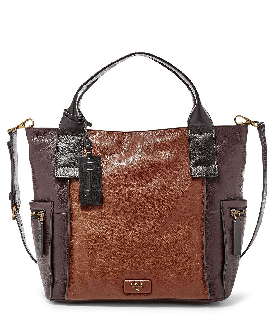Fossil Emerson Color Block Satchel