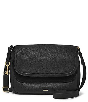 Fossil Peyton Double-Flap Large Cross-Body Bag