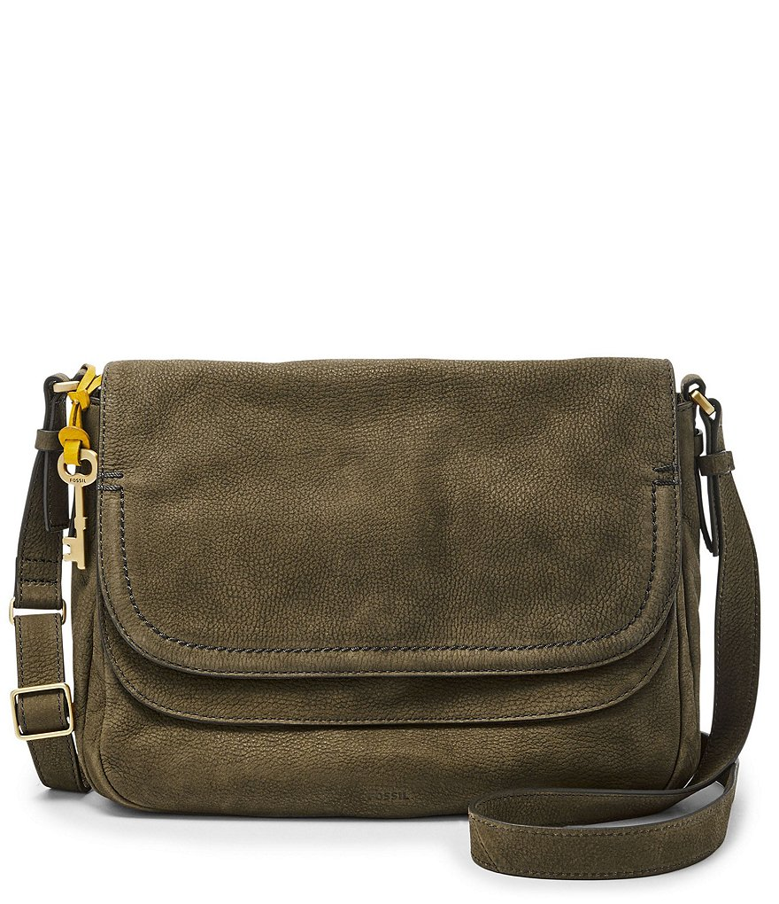 Fossil Peyton Large Double-Flap Cross-Body Bag