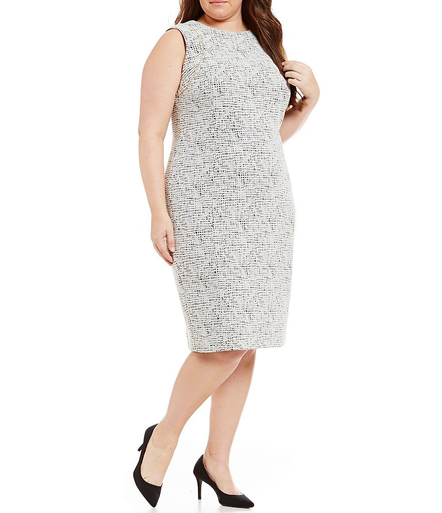 Calvin Klein Plus Ponte Sheath Dress