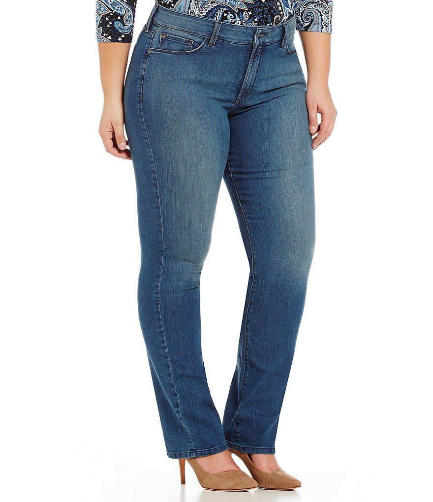 NYDJ Plus Marilyn Straight Leg Jeans