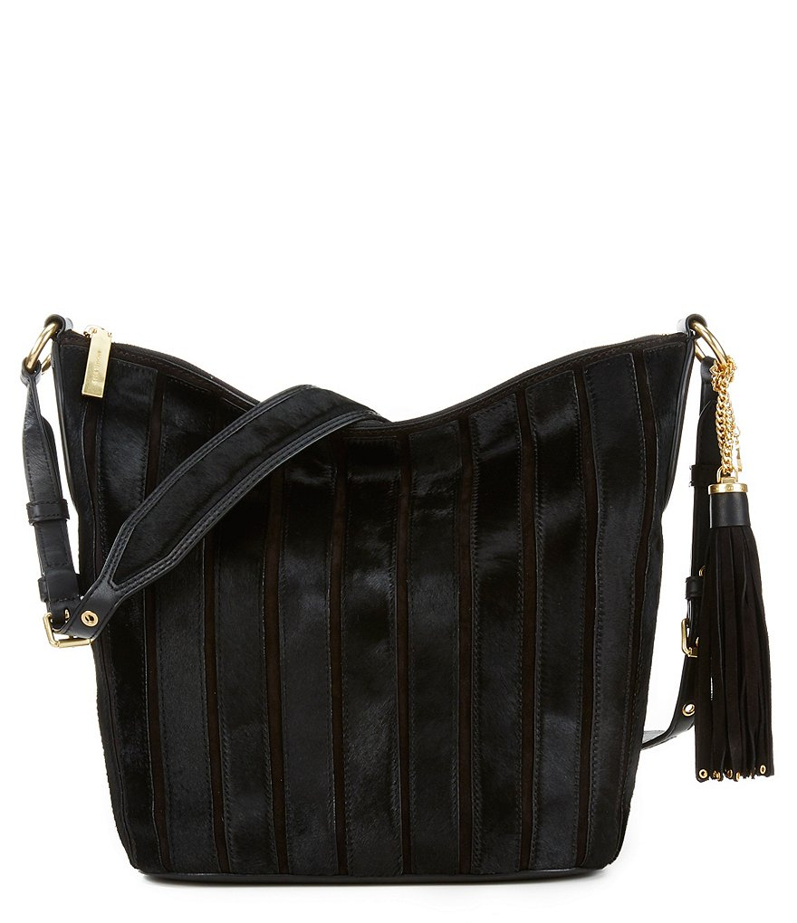 MICHAEL Michael Kors Brooklyn Applique Large Suede Haircalf Bucket Bag
