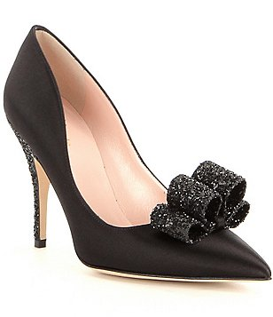 kate spade new york Latrice Satin Bow Pointed-Toe Pumps