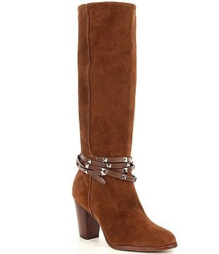 Antonio Melani Binx Studded Suede Dress Boots