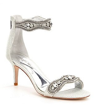 Antonio Melani Sadina Fabric Rhinestone Detailed Dress Sandals