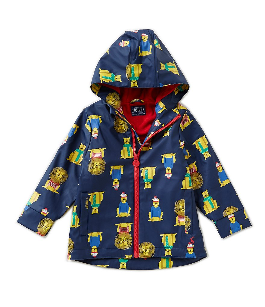 Joules Big Boys Lion-Print Rain Coat