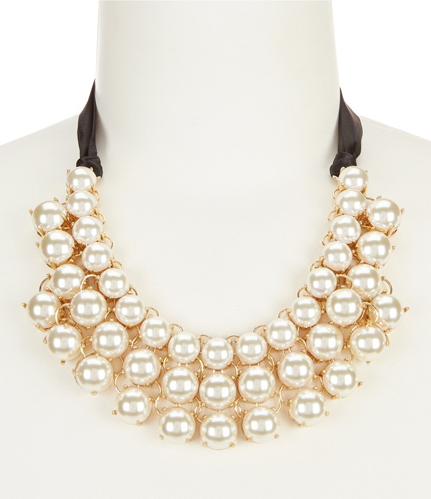 Anna & Ava Charlotte Pearl Statement Necklace