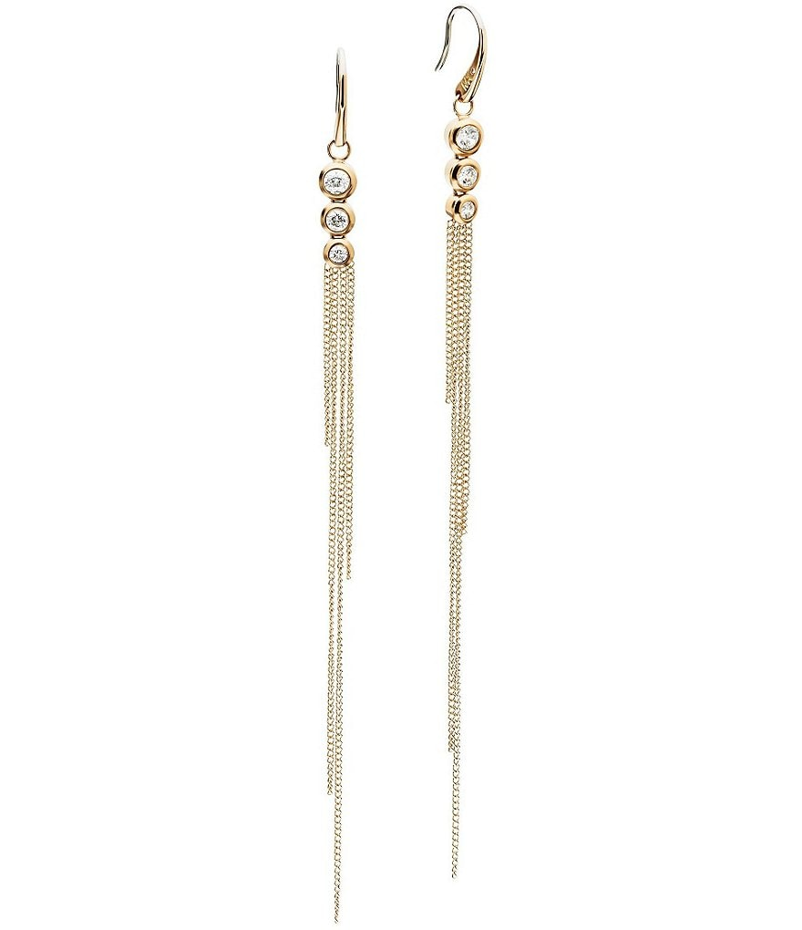 Michael Kors Fringe Linear Earrings