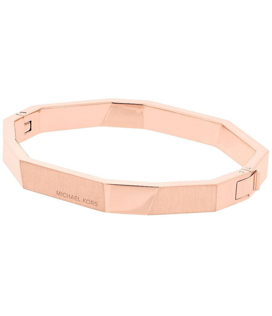 Michael Kors Brushed Metal Hinged Bangle Bracelet