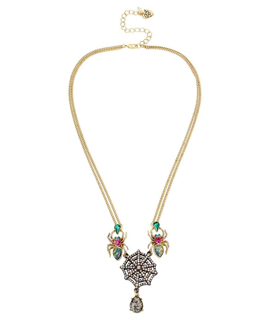 Betsey Johnson Spider Frontal Necklace