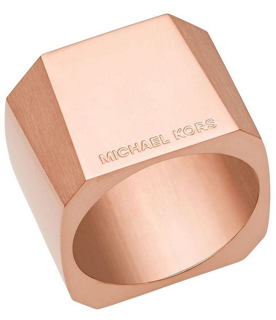 Michael Kors Faceted Barrel Ring