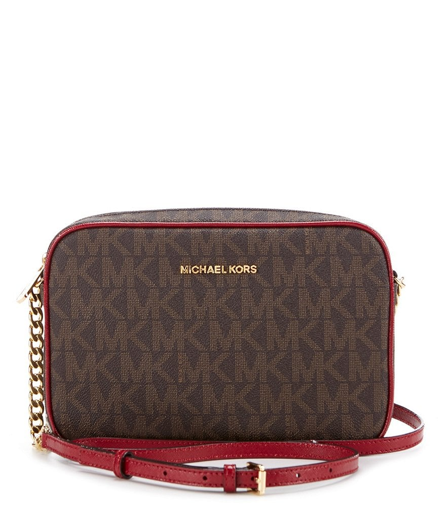 MICHAEL Michael Kors Jet Set Signature Large Cross-Body Bag