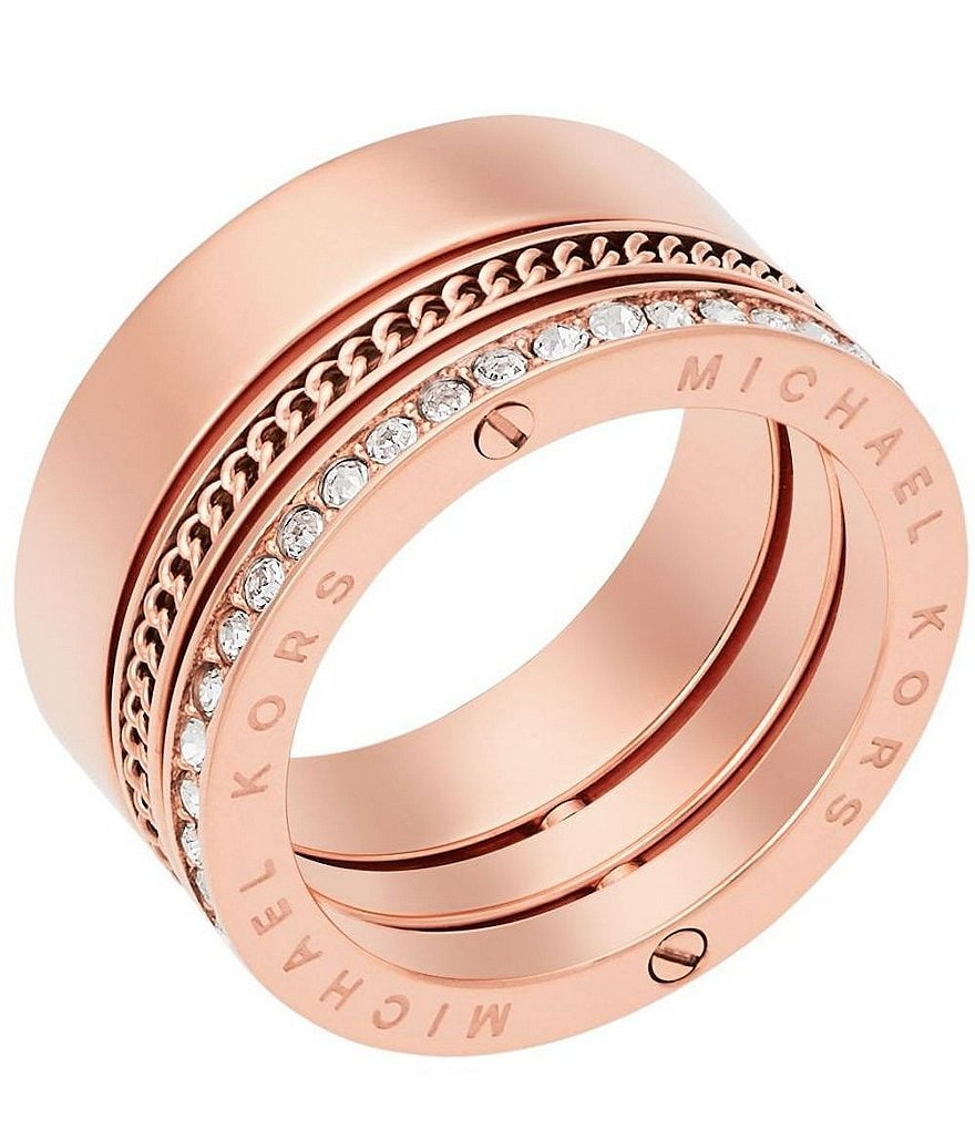 Michael Kors Pavé Swivel Barrel Ring