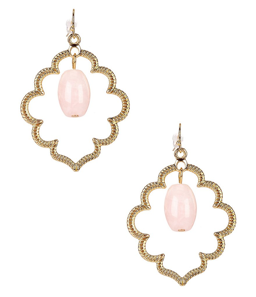 Anna & Ava Kim Rose Quartz Drop Earrings