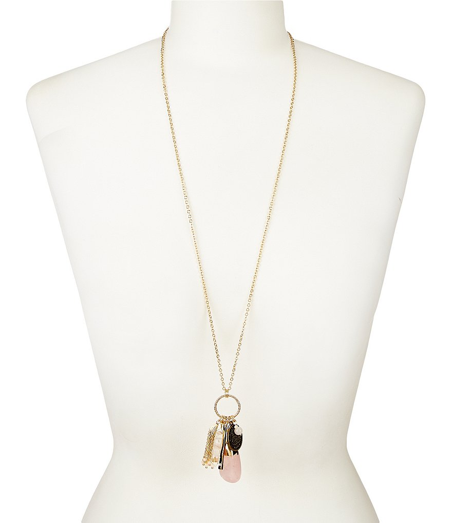 Anna & Ava Jenner Rose Quartz Pendant Necklace