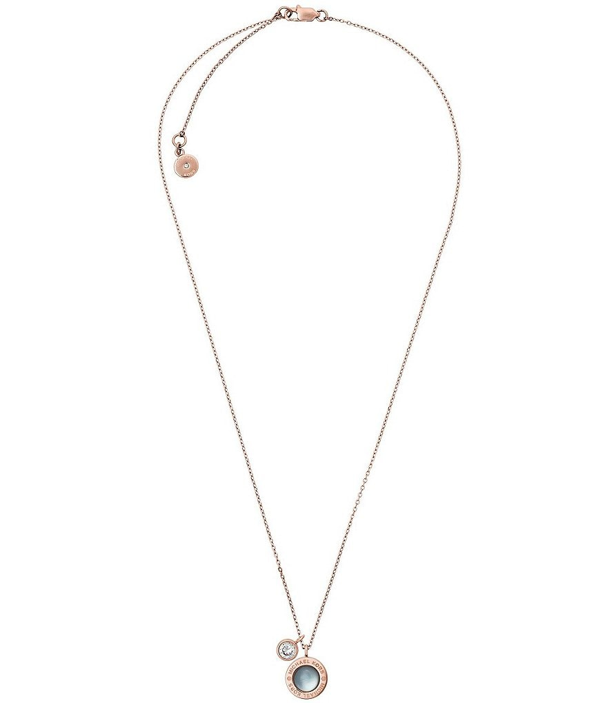 Michael Kors Mother-of-Pearl Pendant Necklace