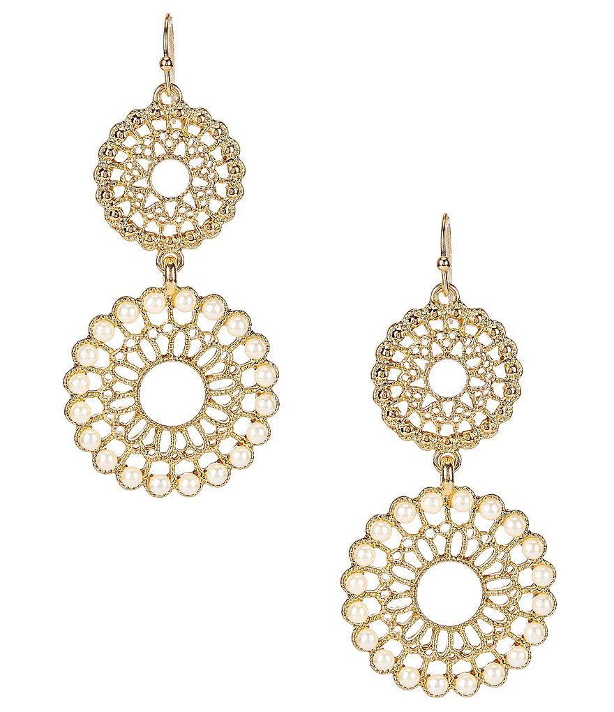 Anna & Ava Carla Filigree & Pearl Drop Earrings