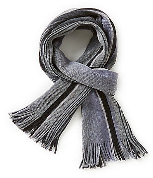 Fraas Shadow Striped Raschel Scarf