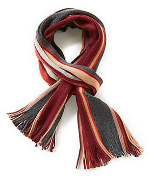 Fraas Striped Raschel Scarf