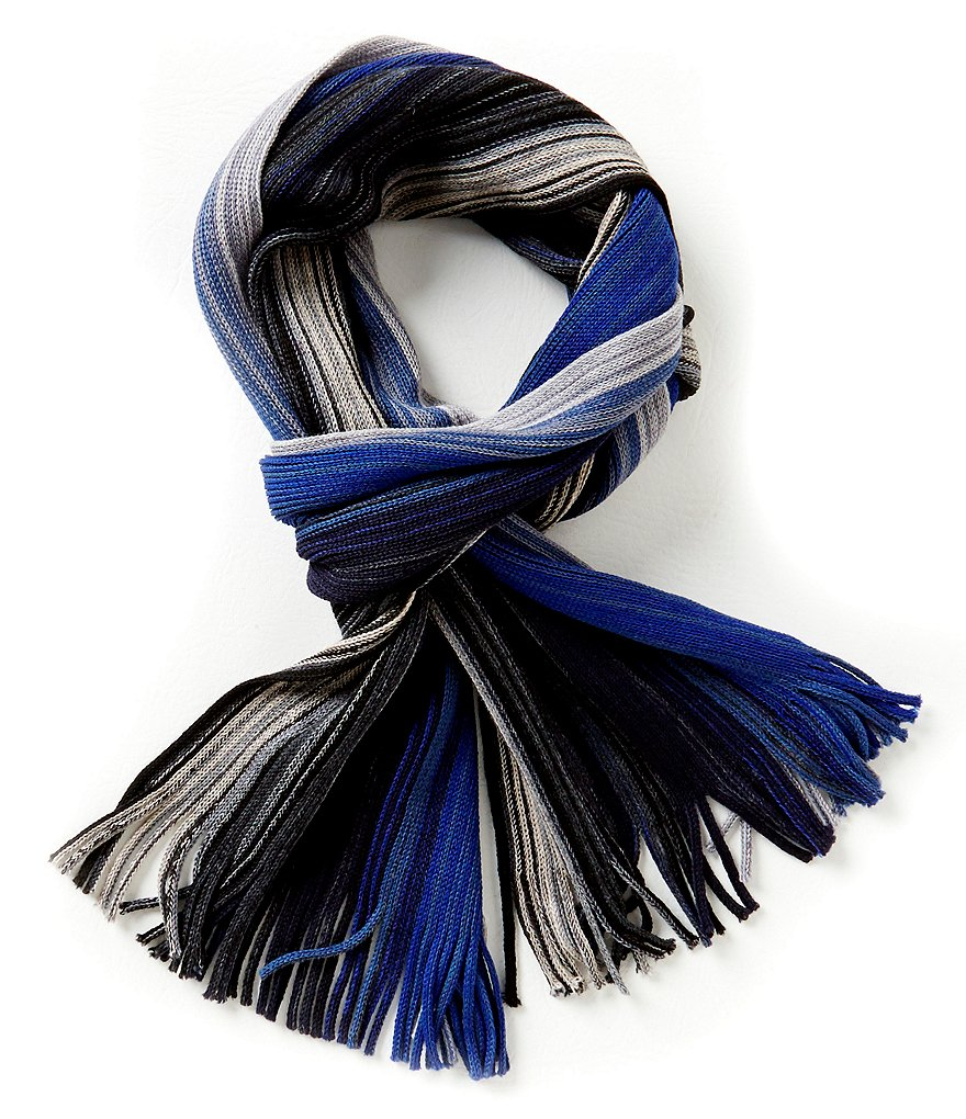 Fraas Ombre Striped Raschel Scarf