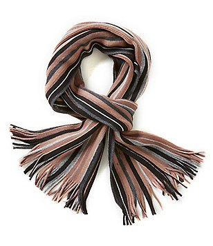 Fraas Tonal Striped Raschel Scarf