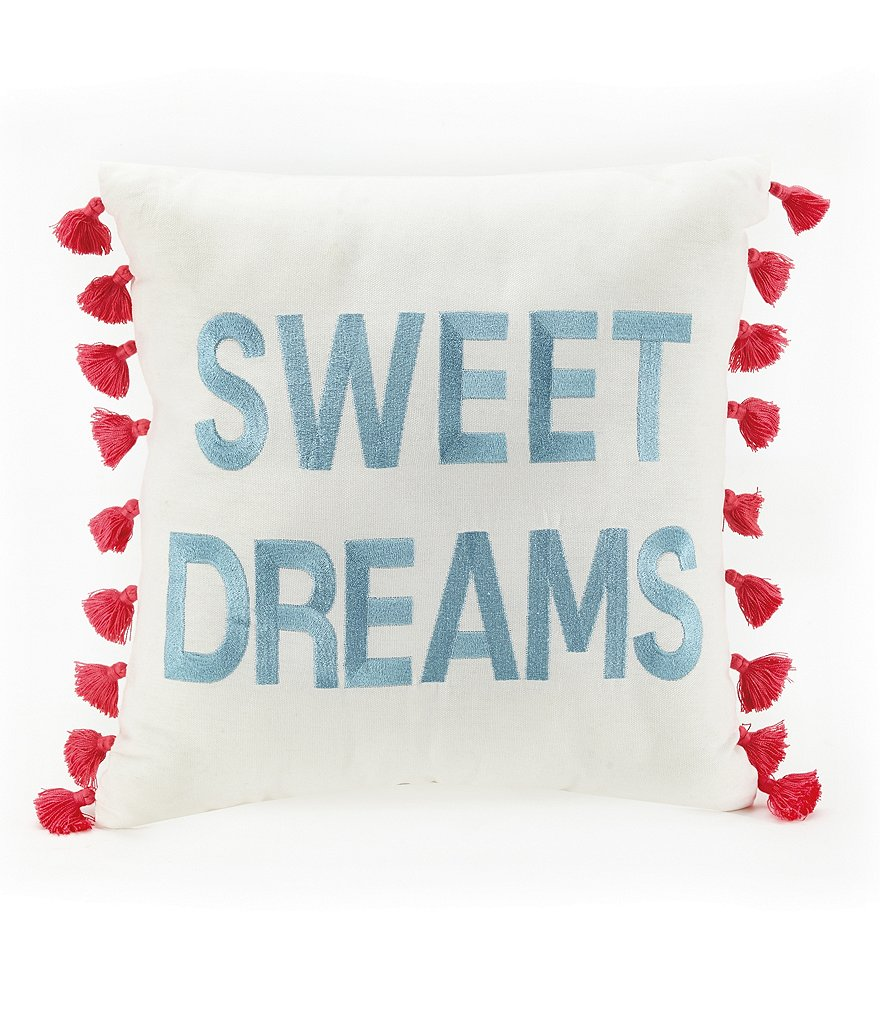 Jessica Simpson Sweet Dreams Tasseled Square Pillow