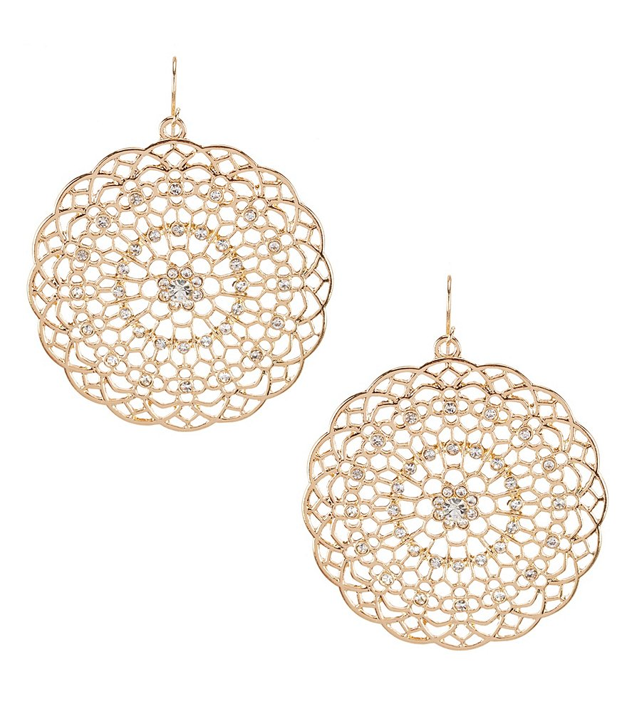 Natasha Accessories Cutout Circle Earrings