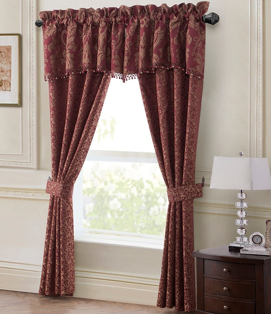 Waterford Athena Damask & Scroll Jacquard Window Treatments